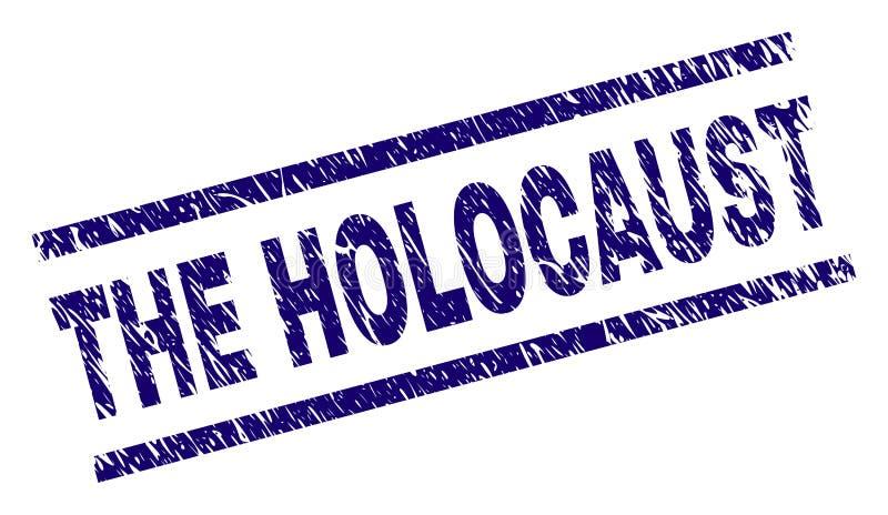 Verkratzt maserte das HOLOCAUST Stempelsiegel lizenzfreie abbildung