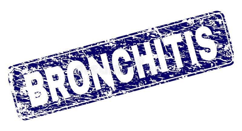 Verkratzte BRONCHITIS gestaltete gerundeten Rechteck-Stempel vektor abbildung