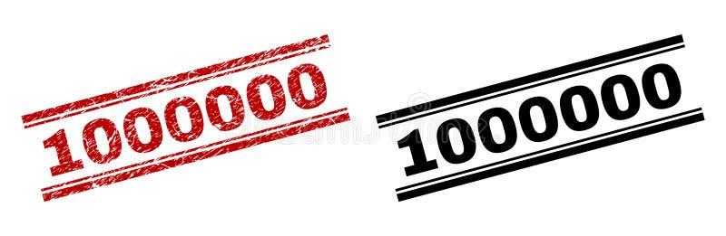 Verkratzte strukturierte und saubere 1000000 Stempel-Drucke vektor abbildung