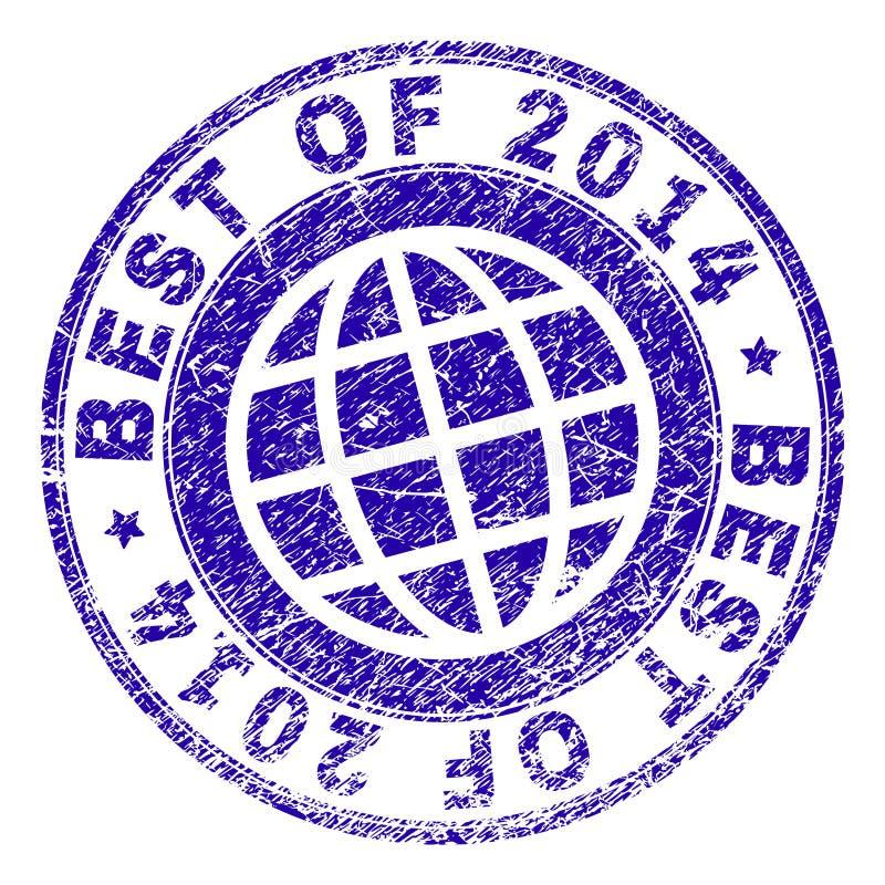 Verkratztes strukturiertes BESTES VON Stempelsiegel 2014 lizenzfreie abbildung