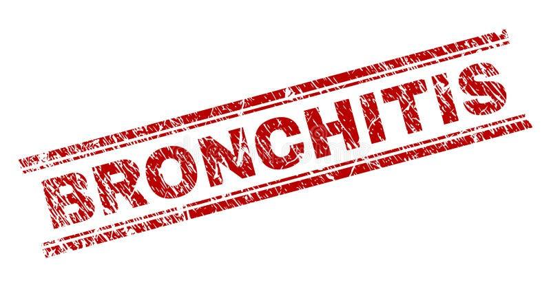 Verkratztes strukturiertes BRONCHITIS Stempelsiegel lizenzfreie abbildung