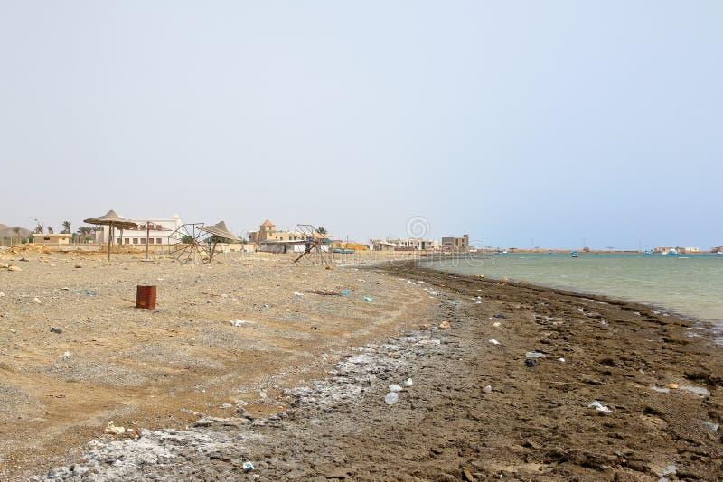 Verlaat Strand, Marsa Alam, Egypte stock afbeeldingen