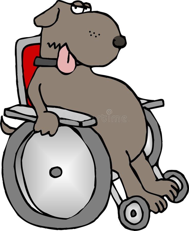 Verlamde hond vector illustratie