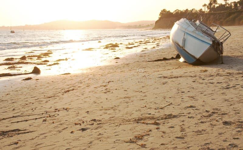 Verlassen auf dem Strand stockbilder