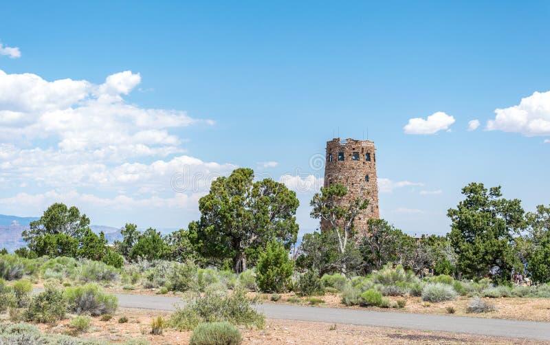 Verlassen Sie Ansichtstandpunkt und alten Stein-wath Turm Berühmter Markstein Nationalparks Grand Canyon s, Arizona, USA Südkante stockfotos