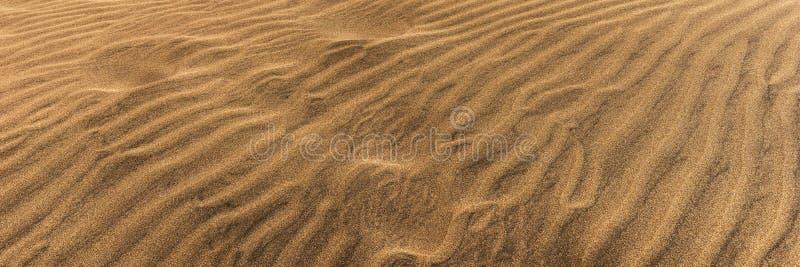 Verlassen Sie Dünensand-Beschaffenheitshintergrund in Maspalomas Gran Canaria lizenzfreie stockfotografie