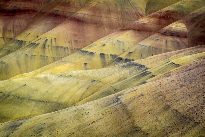 Verlassen Sie Formen und Farben, gemalte Hügel, Oregon stockfotografie