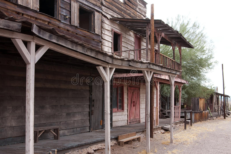 Verlassene alte westliche Arizona-Stadt USA lizenzfreies stockbild
