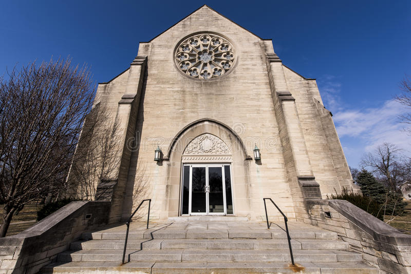 Verlassene College-Kapelle - Ohio lizenzfreies stockfoto