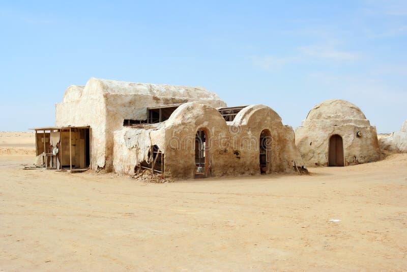 Verlassene Dekorationen für das Schießen des Star Wars-Films lizenzfreies stockbild
