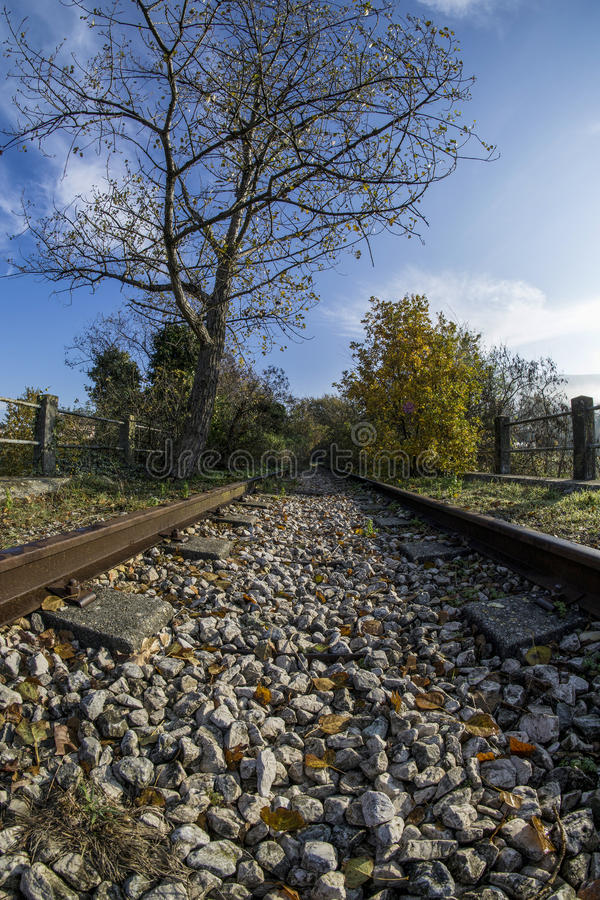 Verlassene Eisenbahn lizenzfreies stockbild