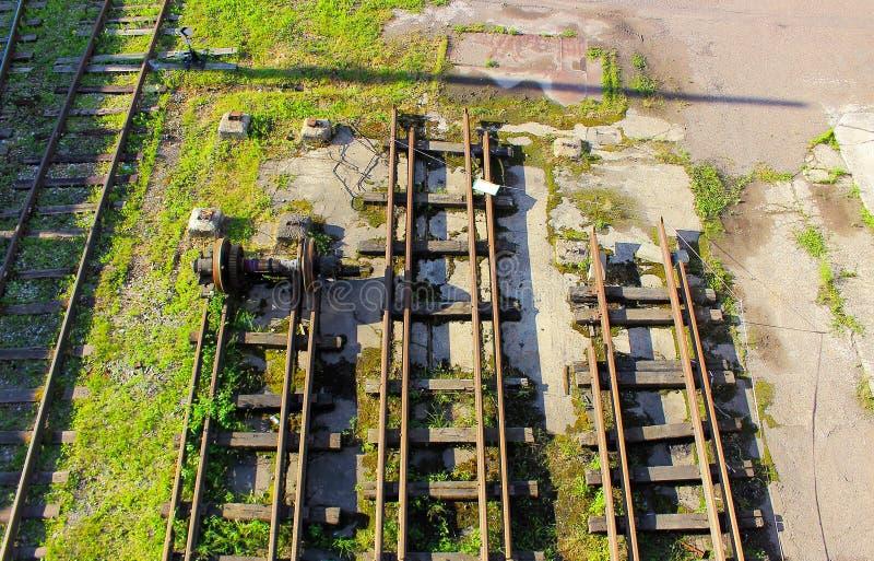Verlassene Eisenbahnlinien lizenzfreie stockbilder
