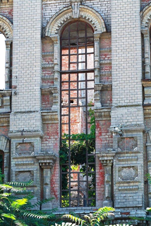 Verlassene Errichtende Fassade Lizenzfreies Stockfoto