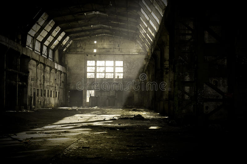 Verlassene Fabrik lizenzfreie stockfotografie