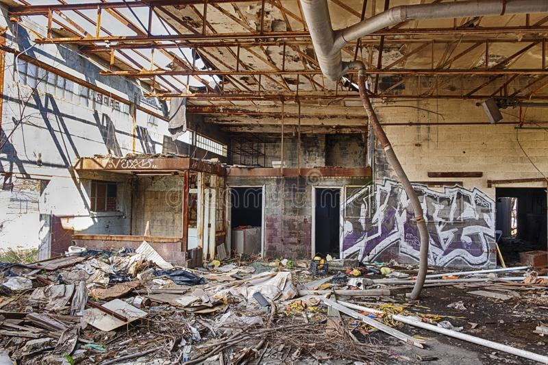 Verlassene Fabrik in Detroit lizenzfreie stockfotografie