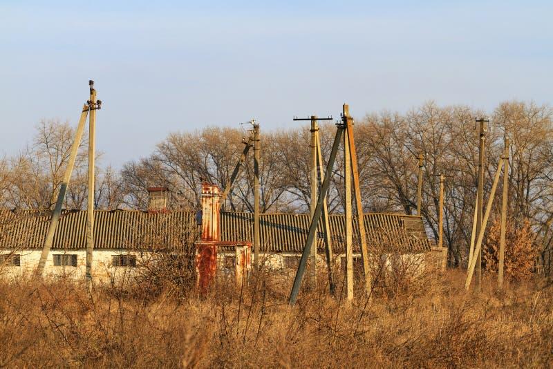 Verlassene Farm der Tiere stockfotografie