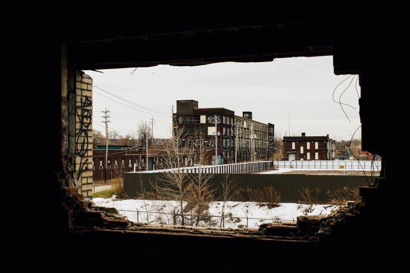 Verlassene Gipfel-Fabrik - Cleveland, Ohio lizenzfreie stockbilder