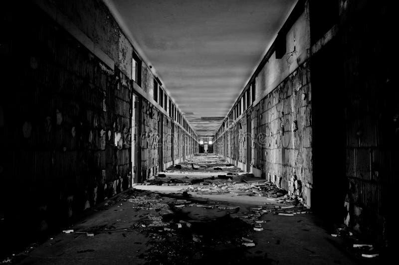 Verlassene Halle stockfotos