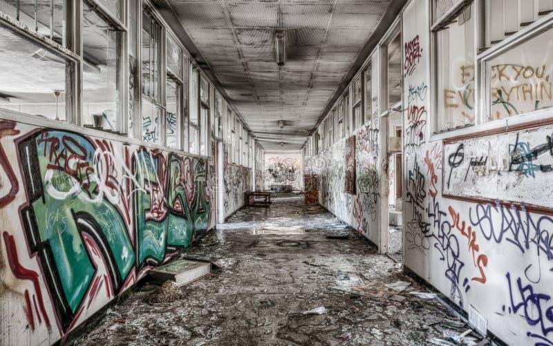 Verlassene Highschool in Sydney stockbild
