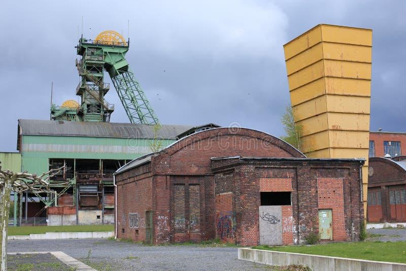 Verlassene Kohlengrube in Ahlen, Deutschland stockbild
