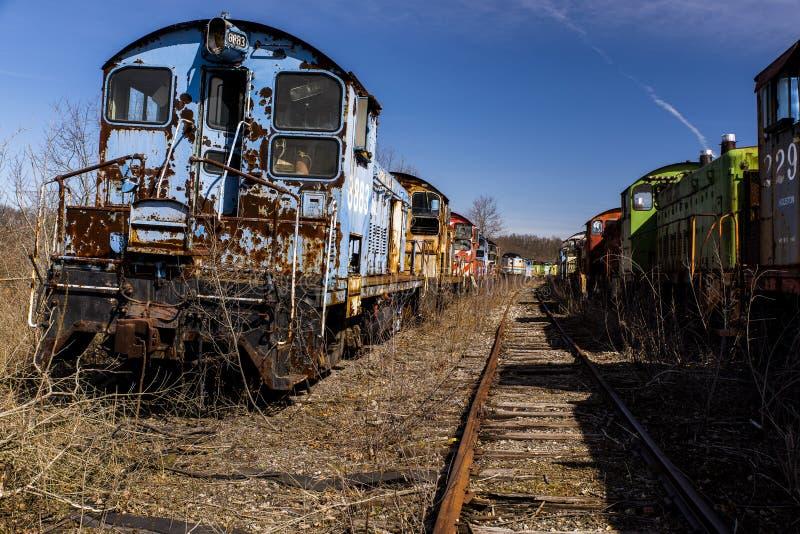 Verlassene Lokomotive - Zug - Ohio lizenzfreie stockfotos