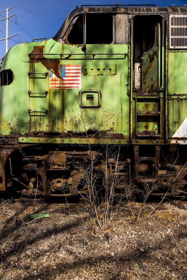 Verlassene Lokomotive - Zug - Ohio lizenzfreie stockfotografie