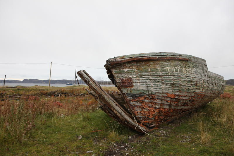 Verlassene Region Murmansk Russland Norden Russische Föderation stockfotografie
