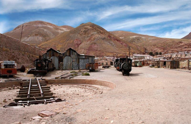 Verlassene silberne Grube, Bolivien lizenzfreies stockbild