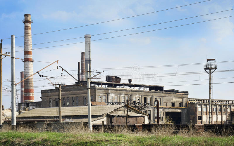 Verlassene ukrainische Anlage stockbild