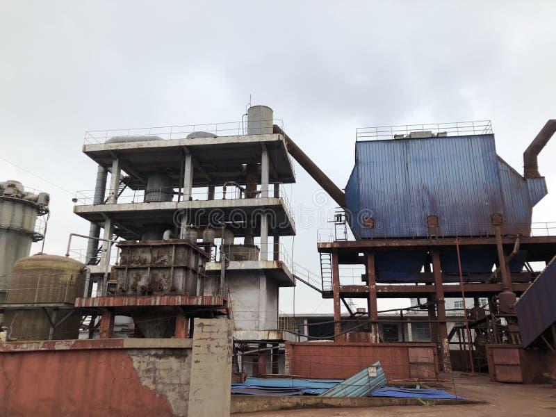 Verlassenen Schwefelmine in Yuntai-Berg, Nanjing stockbild