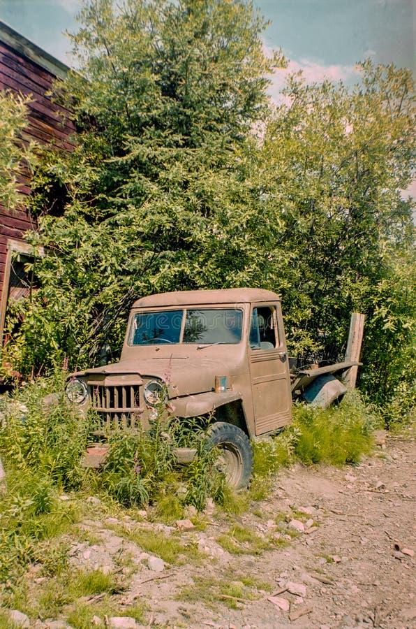 Verlassener Aufnahmen-LKW in McCarthy in Alaska stockfoto
