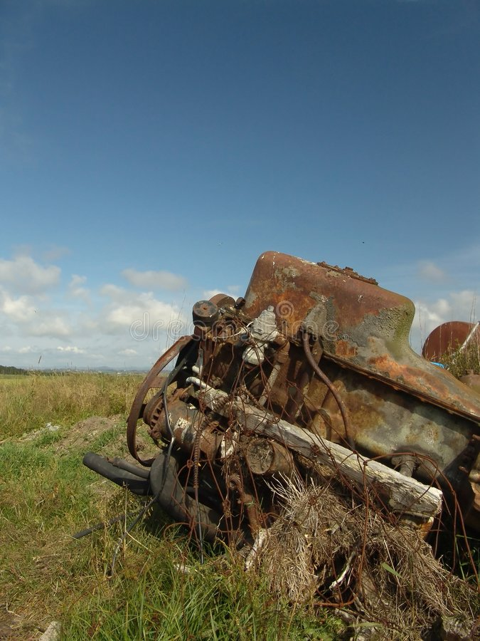 Verlassener Motor Stockfoto