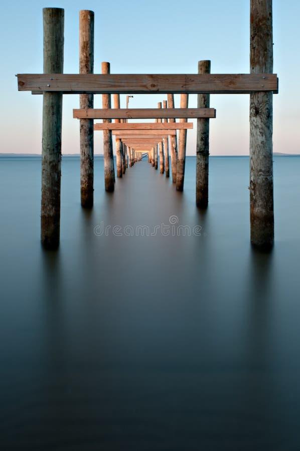 Verlassener Pier stockfotos