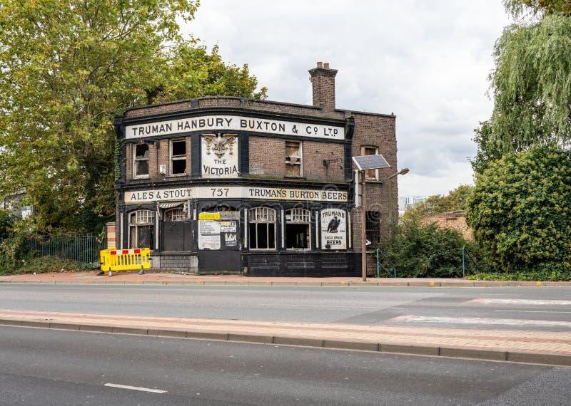 Verlassenes öffentliches Haus in Woolwich East London stockbild