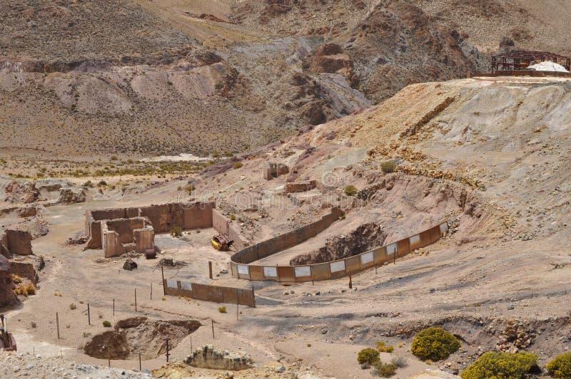 Verlassenes Bergwerk in der Provinz von Salta lizenzfreie stockfotografie