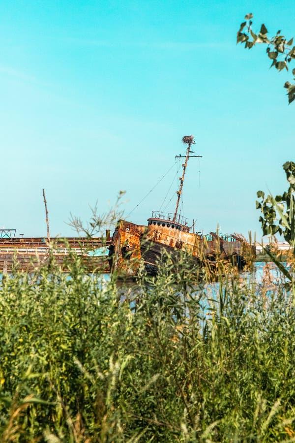 Verlassenes Boot in Staten Island New York City, stockbilder