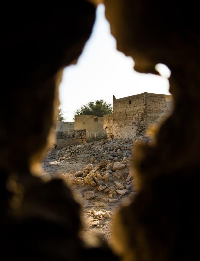 Verlassenes Dorf in Ras Al Khaimah-UAE stockbild