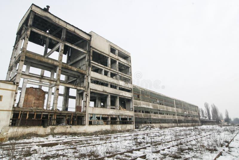 Verlassenes Gebäude im winer lizenzfreie stockfotos