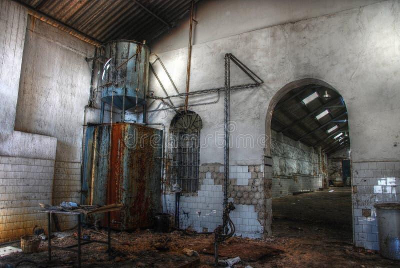 Verlassenes leeres Lager in Spanien. stockfoto