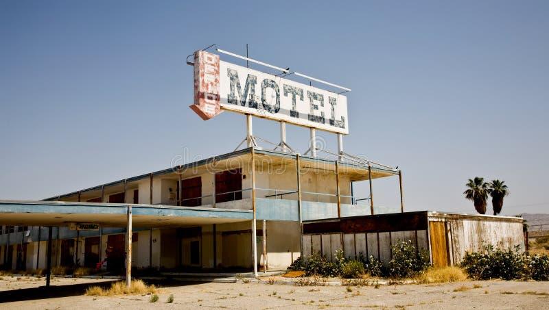 Verlassenes Motel, Salton Meer, CA stockbilder