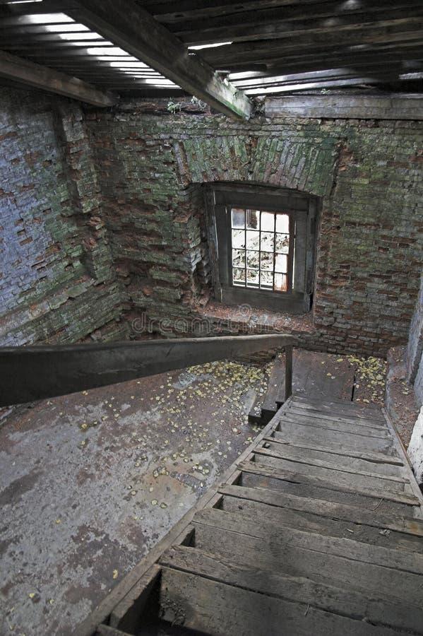 Verlassenes Speicherhaus stockbild