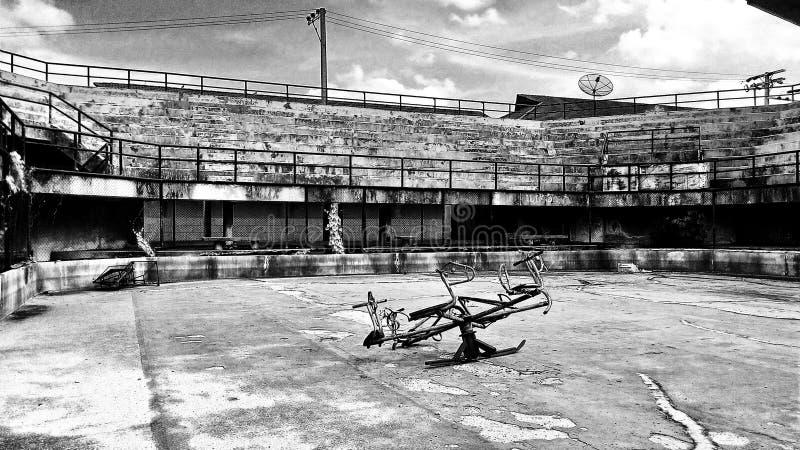 Verlassenes Stadion BW2 lizenzfreies stockbild