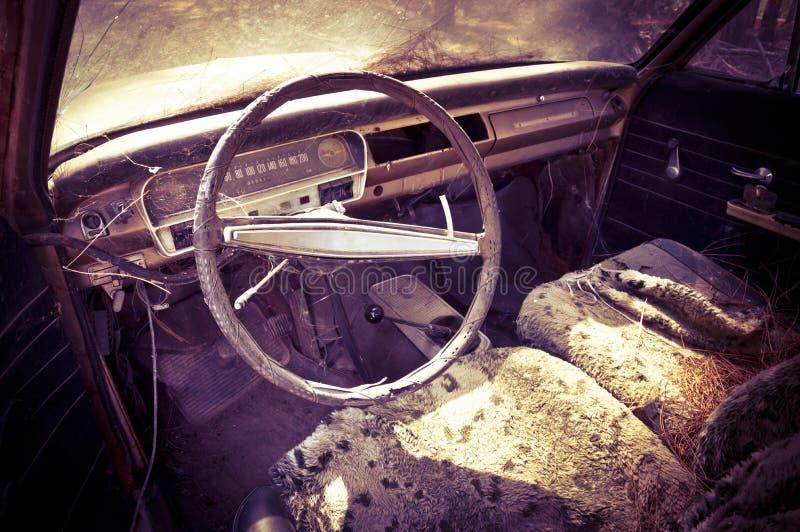 Verlaten auto royalty-vrije stock afbeelding