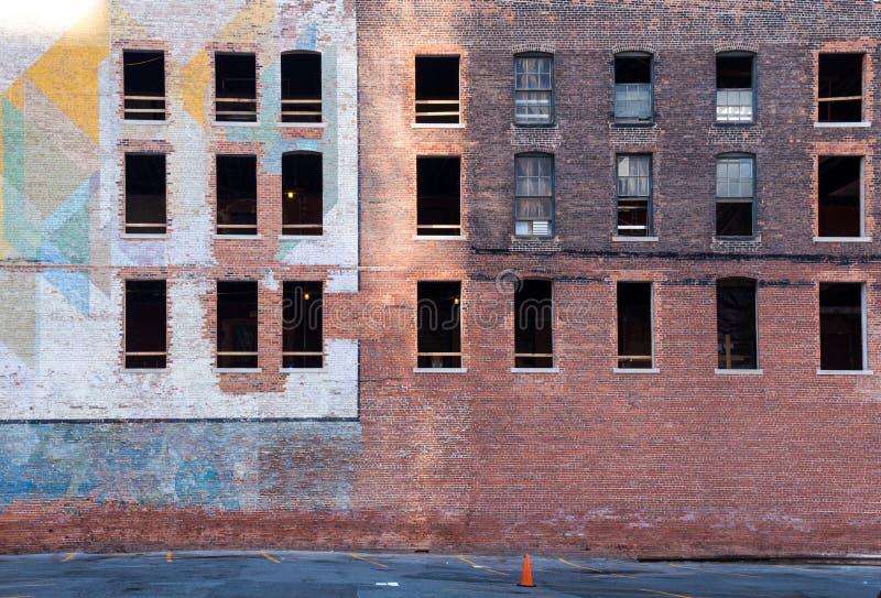 Verlaten bakstenen die Detroit inbouwen royalty-vrije stock fotografie