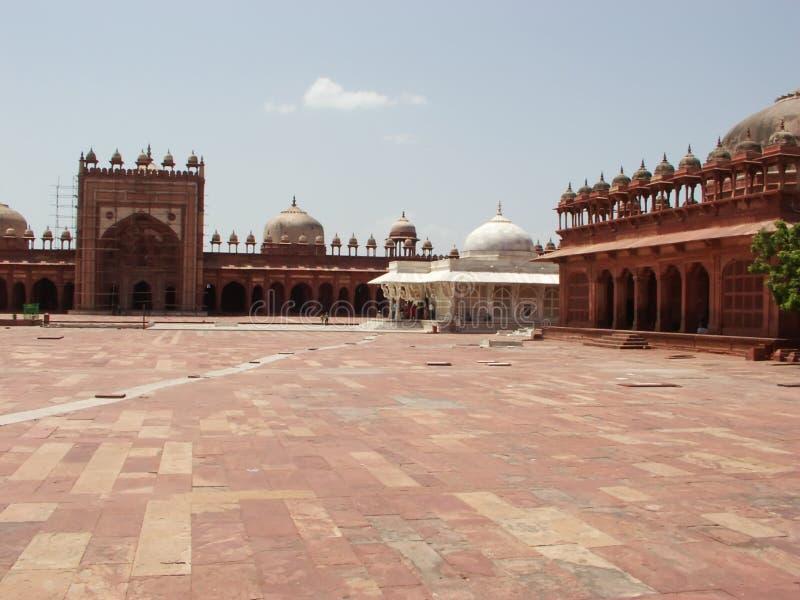 Verlaten binnenplaats van Fatehpur Sikri royalty-vrije stock fotografie