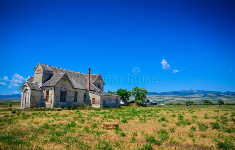 Verlaten Boerderij - Wyoming royalty-vrije stock foto