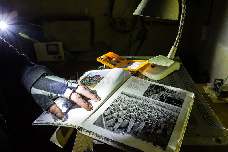 Verlaten bunkerinventaris royalty-vrije stock fotografie