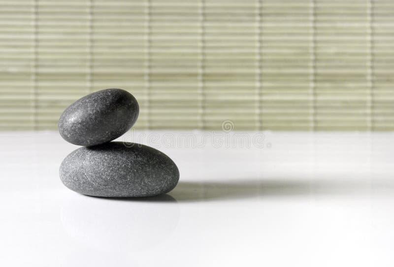 Verlaten de stenen van Zen stock fotografie