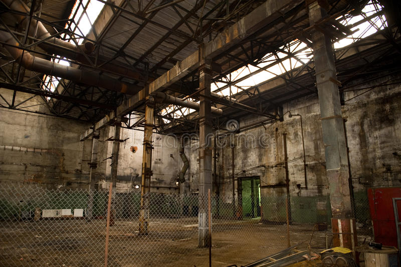 Verlaten fabriek stock foto's