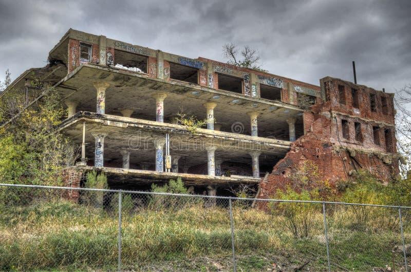 Verlaten fabriek royalty-vrije stock fotografie